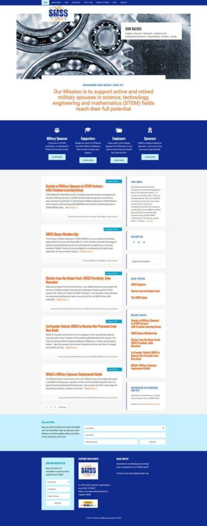 Screenshot of SMSS Website