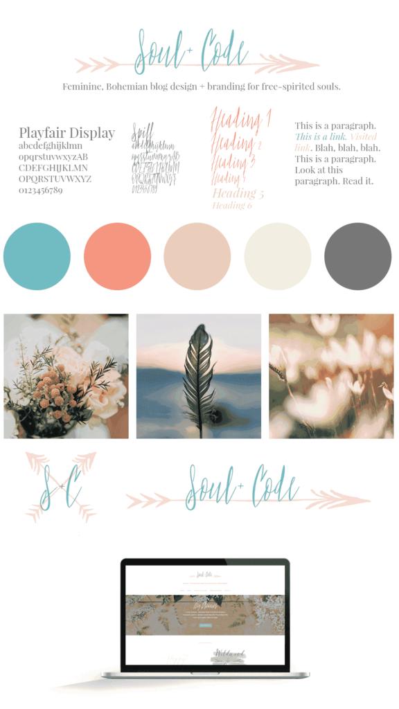 Soul + Code Branding Mood Board